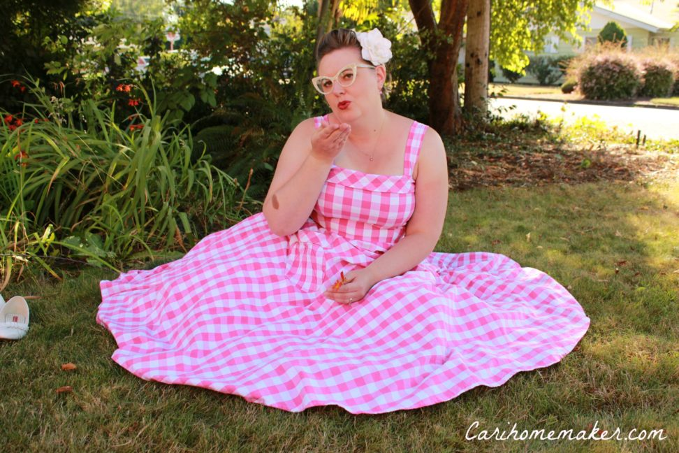 Pink gingham 8